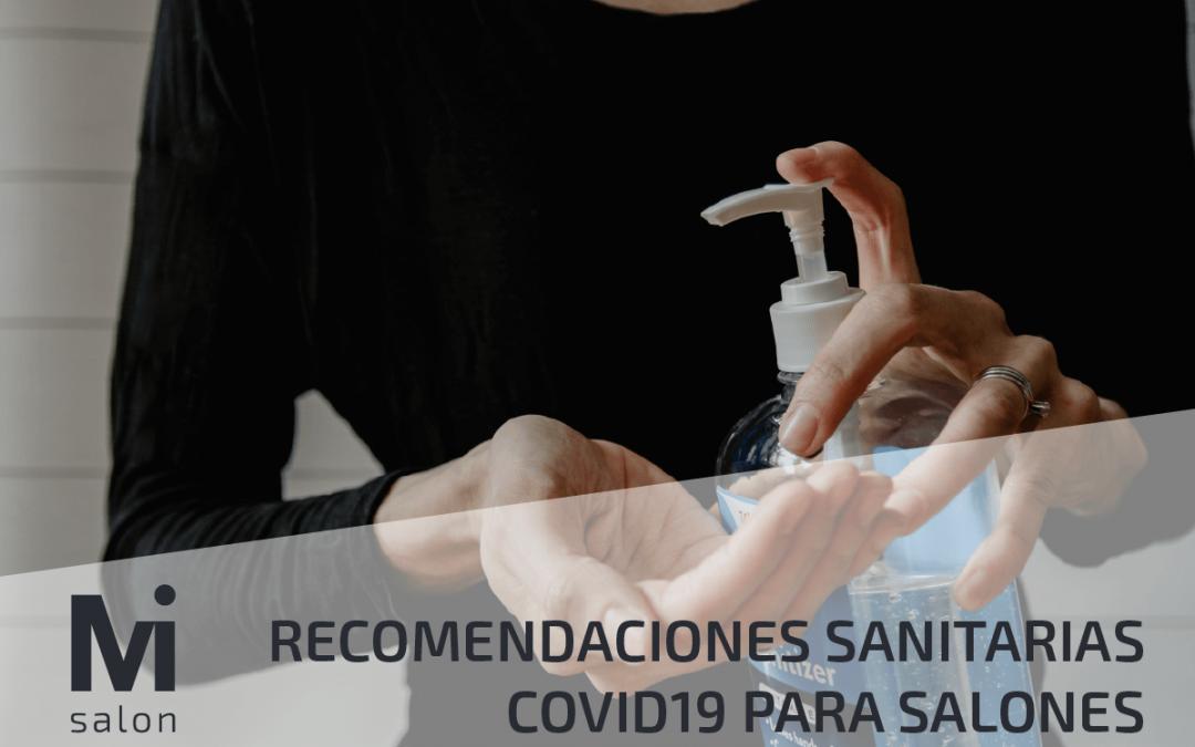 RECOMENDACIONES SANITARIAS PARA SALONES DE PELUQUERÍA